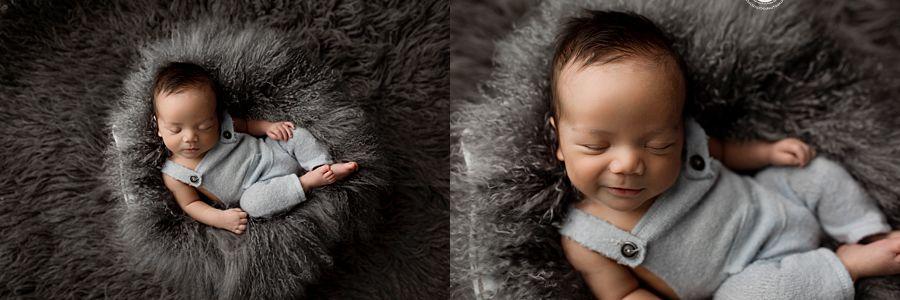 Newborn Posed Grey