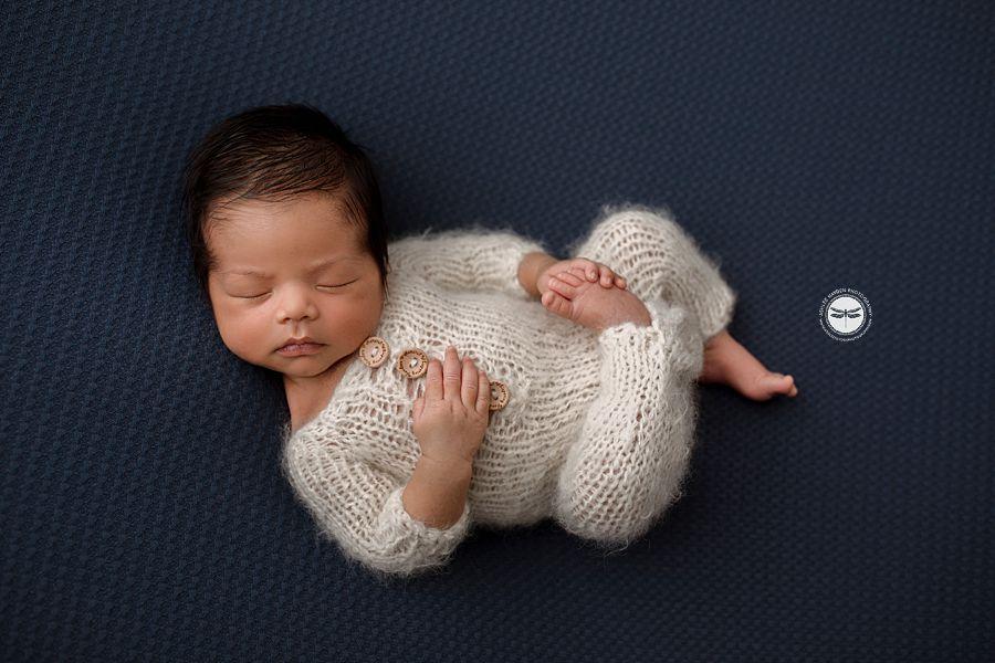Baby boy posed