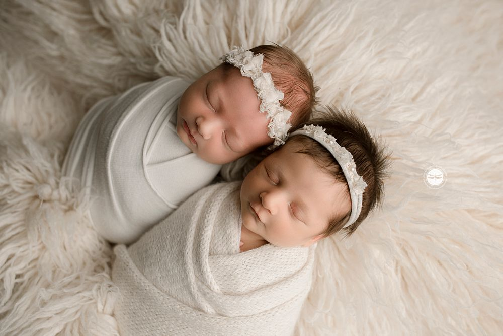 twins wrapped, white