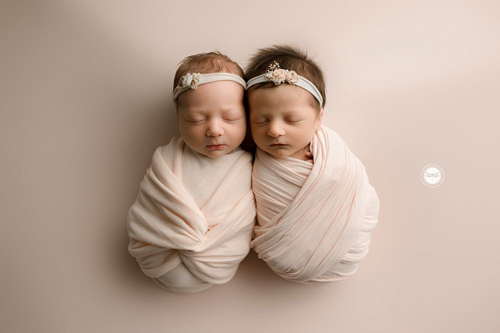 twins wrapped, pink